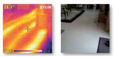 Thermal imaging shows underground heating pipes