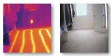 Floor heating visible via thermal image